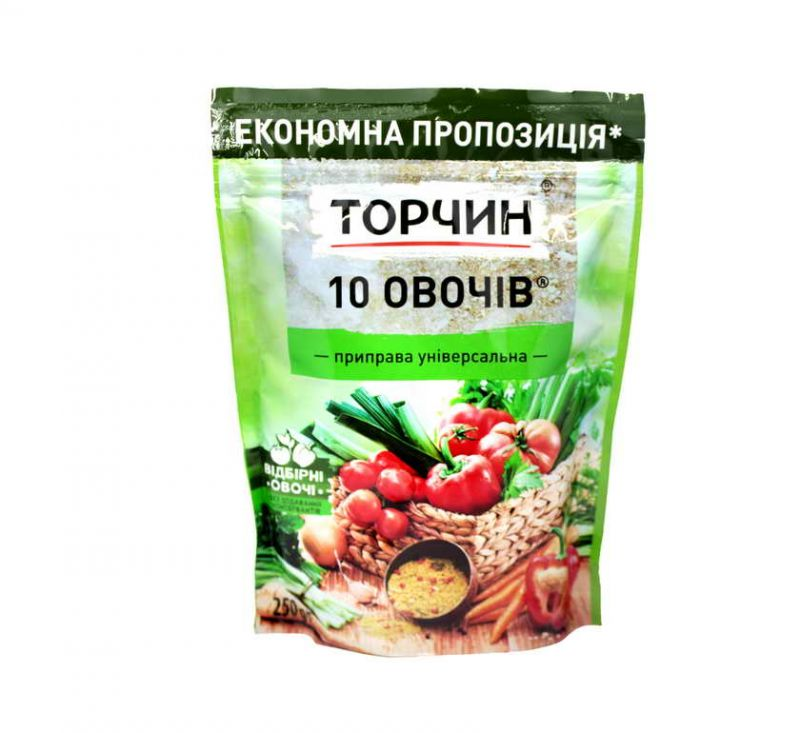 Приправа 10 овочів 250 г Торчин