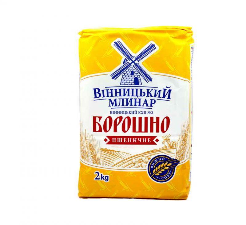 Борошно вищого сорту 2 кг Вінницький Млинар