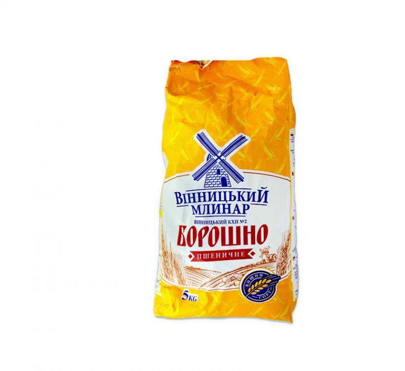 Борошно вищого сорту 5 кг Вінницький Млинар