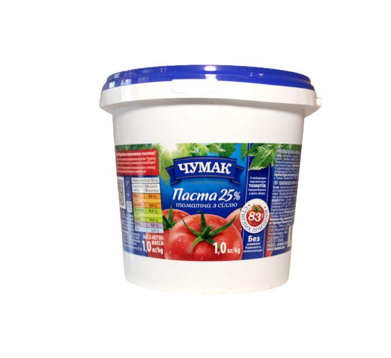Паста томатна з сіллю 1 кг Чумак