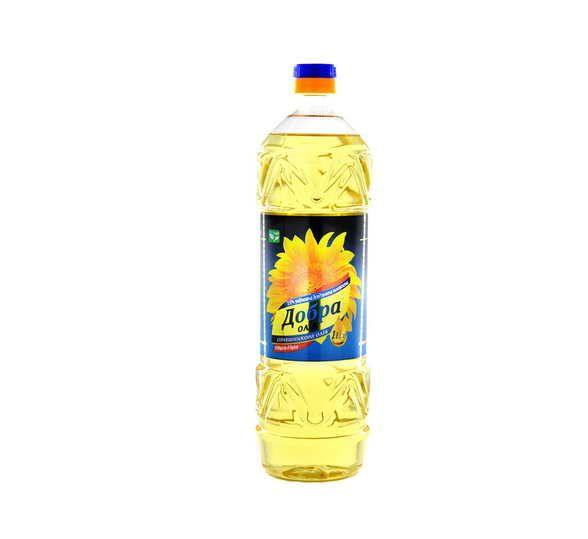 Олія соняшникова рафінована 1 л Добра