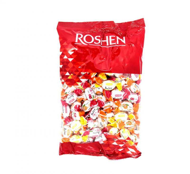 Карамель «Рошен-Джус-Мікс» з фруктово-ягідною начинкою 1 кг Roshen