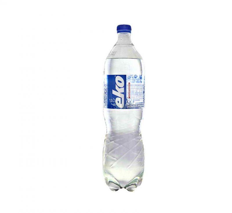 Вода мінеральна сильногазована 1,5 л Еко