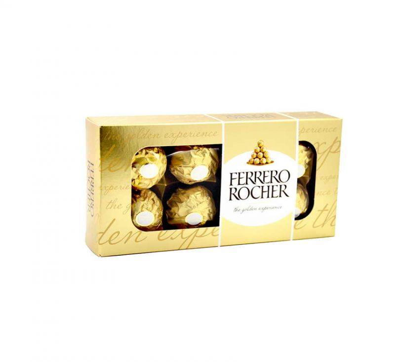Цукерки вафельні з цілим лісовим горіхом 100 г «Ferrero Rocher»