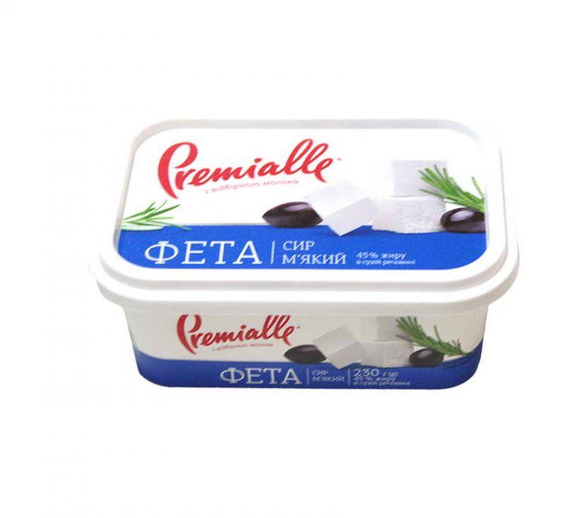 Сир м'який Фета 45% 230 г Premialle