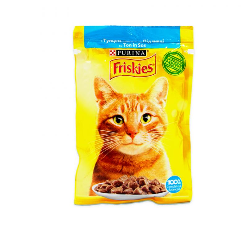 Корм консервований порційний з Тунцем у підливці для Дорослих котів 85 г Friskies