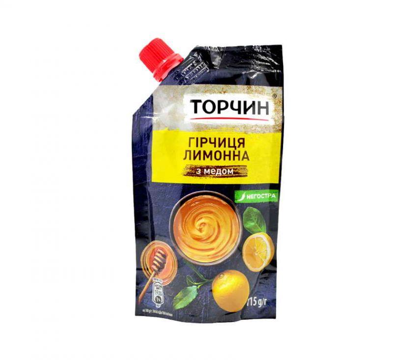 Гірчиця Лимонна з медом 115 г Торчин