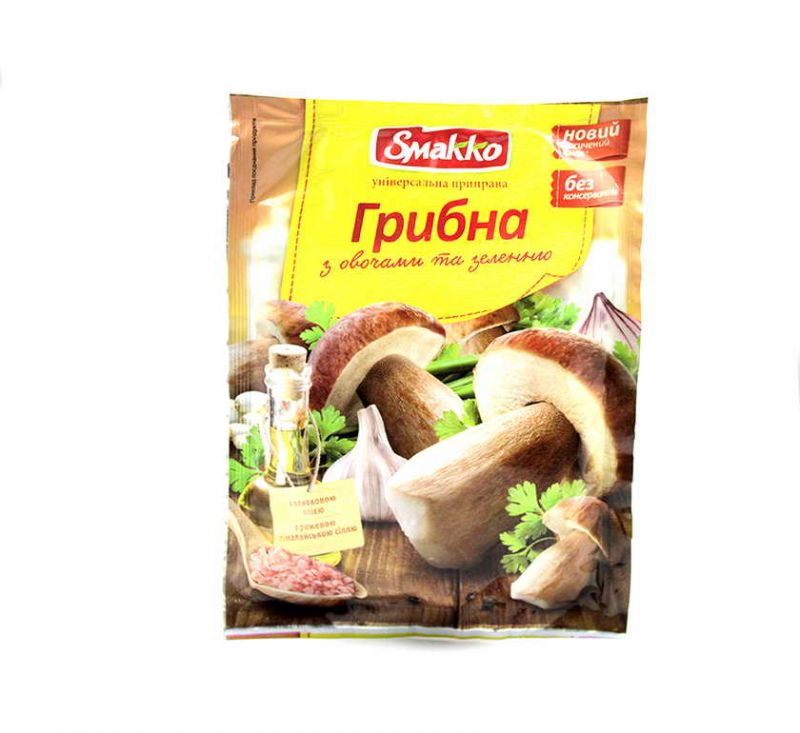 Приправа Грибна з овочами та зеленню 80 г Смакко