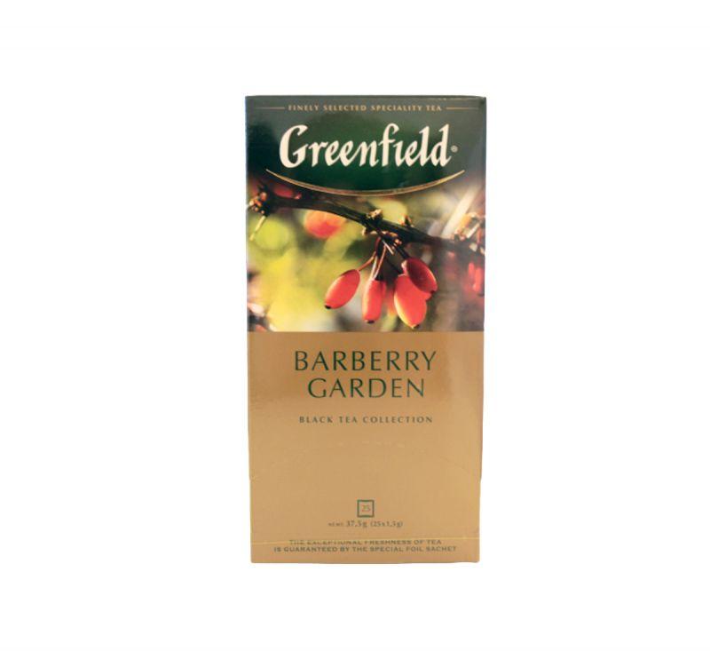 Чай чорний Barberry Garden 25 пакетів Greenfield