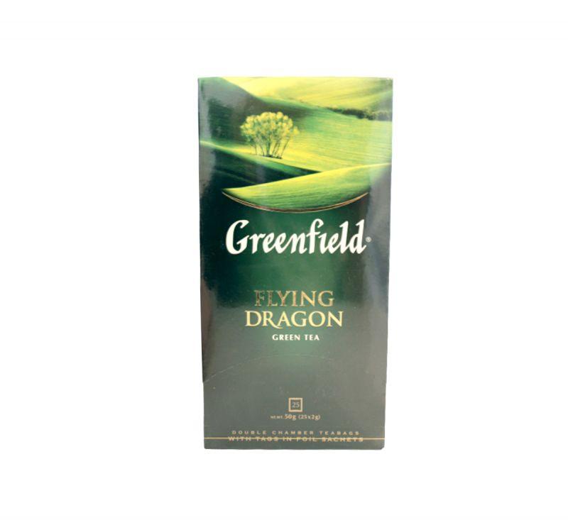Чай зелений Flying Dragon 25 пакетів Greenfield