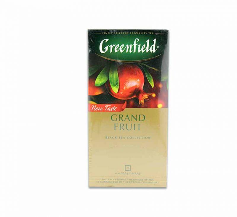 Чай чорний Grand Fruit 25 пакетів Greenfield