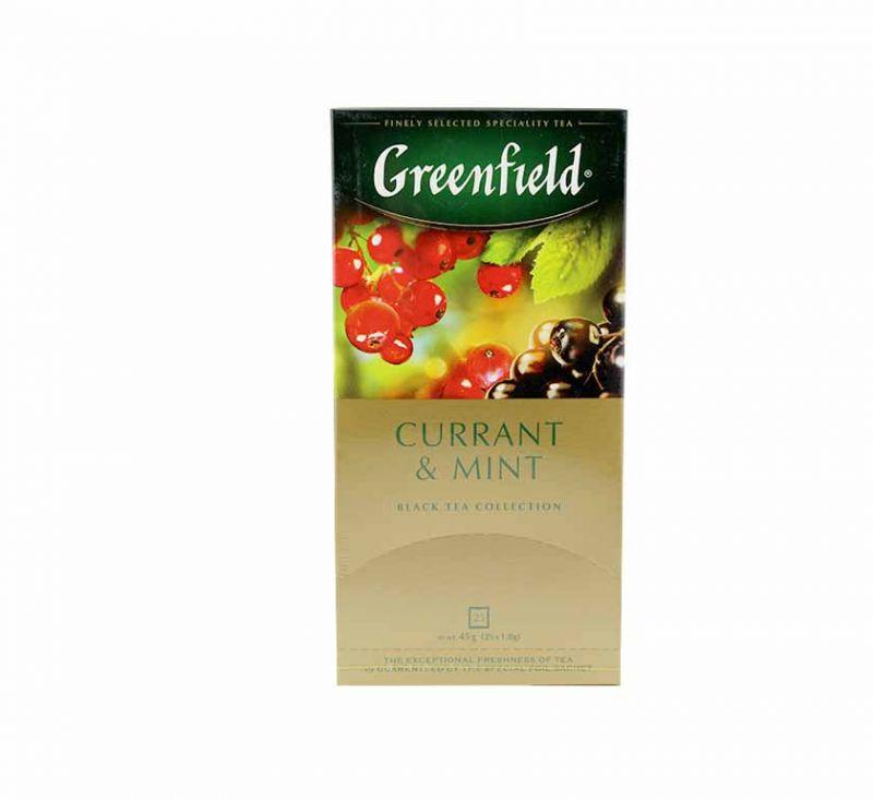 Чай чорнний Currant&Mint 25 пакетів Greenfield
