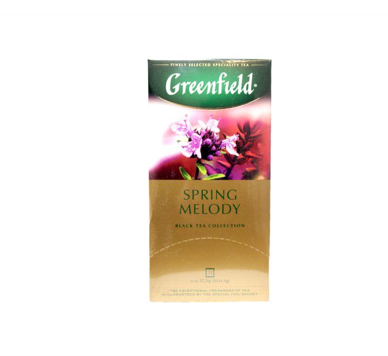 Чай чорний  Spring Melody 25 пакетів Greenfield