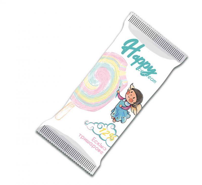 Морозиво Ескімо Тришарове 70 г Happy