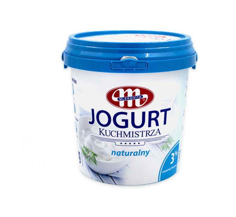 Йогурт натуральний 3% 1 кг Mlekovita