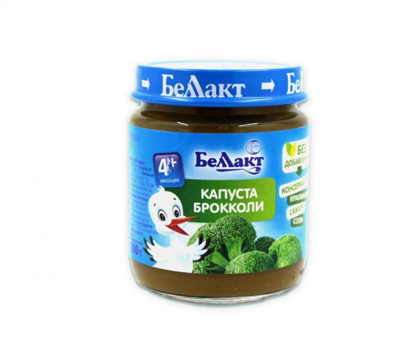 Пюре з капусти броколі для харчування дітей раннього віку 100 г БелЛакт
