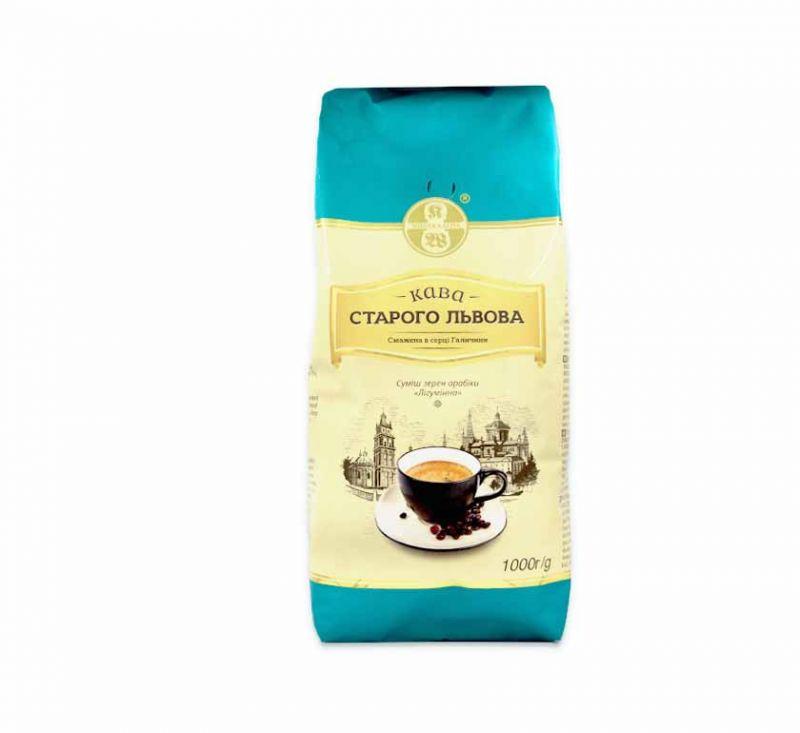 Кава смажена в зернах Лігумінна 1 кг Кава Старого Львова