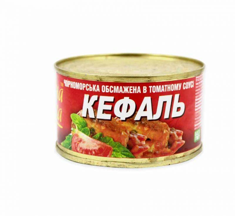 Кефаль в томатному соусі 240 г Знатна Рибка