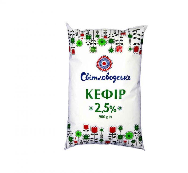 Кефір 2,5% 900 г Світловодське