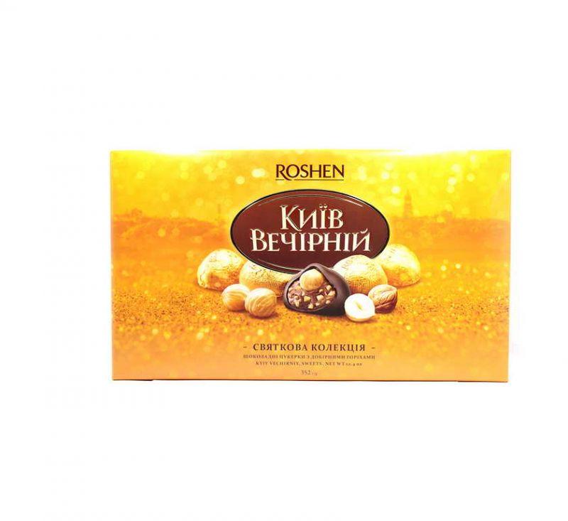 Цукерки глазуровані «Київ Вечірній» 352 г Roshen