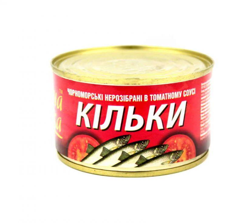 Кілька в томатному соусі 240 г Знатна Рибка