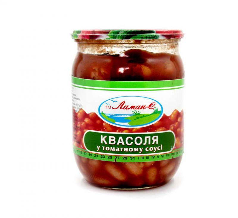 Квасоля в томатному соусі 500 мл Лиман