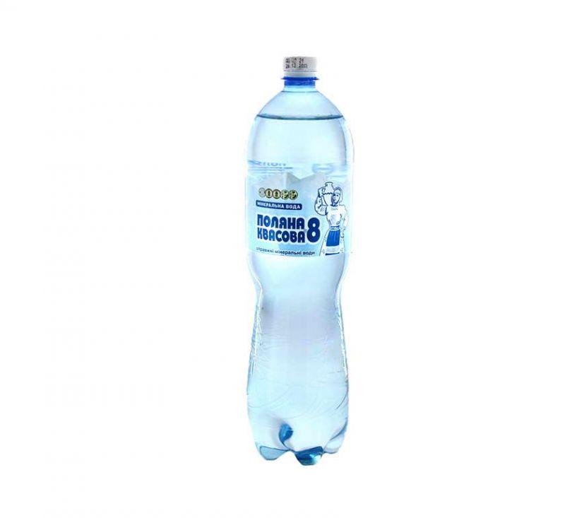 Вода мінеральна сильногазована 1,5 л Поляна Квасова 8