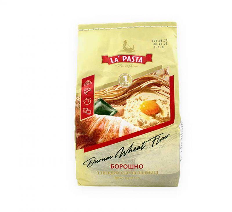 Борошно Семола з твердих сортів пшениці 1 кг La Pasta