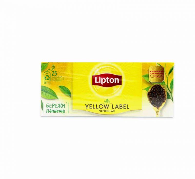 Чай чорний 25 пакетів Lipton