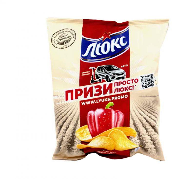 Чіпси картопляні зі смаком «Паприка» 71 г Люкс