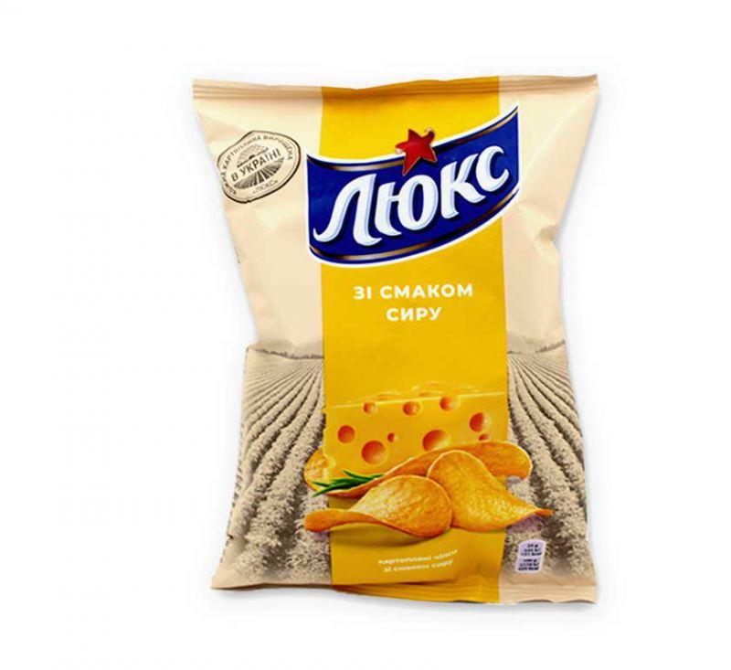 Чіпси картопляні зі смаком «Сир» 71 г Люкс