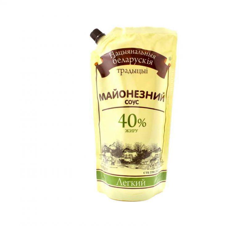 Майонезний соус «Легкий» 40% 560 г Білоруські Традиції