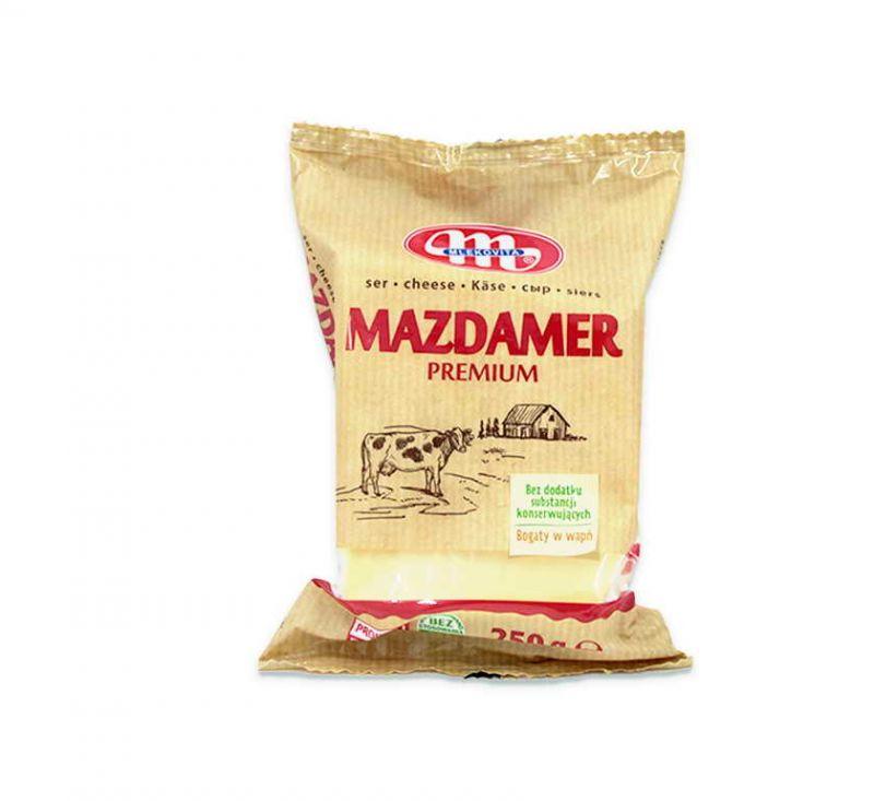 Сир твердий сичужний «Маздамер» 44% 250 г Mlekovita