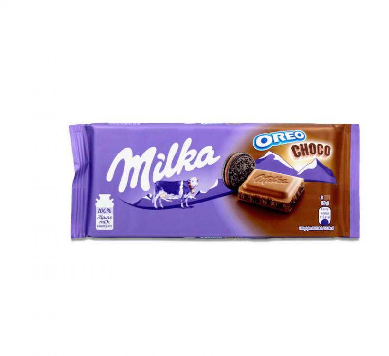 Шоколад молочний з како і печивом OREO 100 г Milka