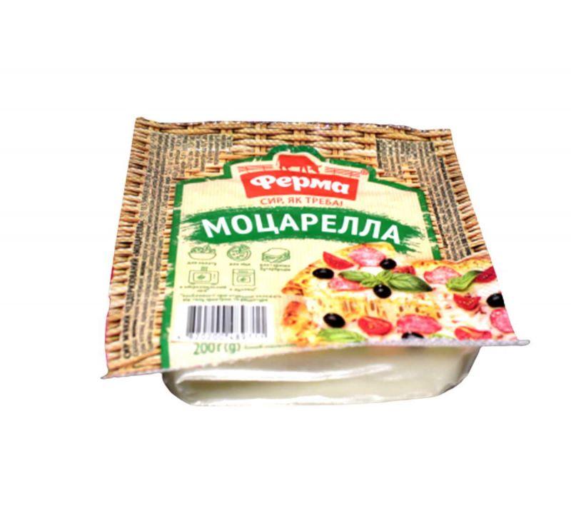 Сир м'який чеддеризований Моцарелла 45% 200 г Ферма