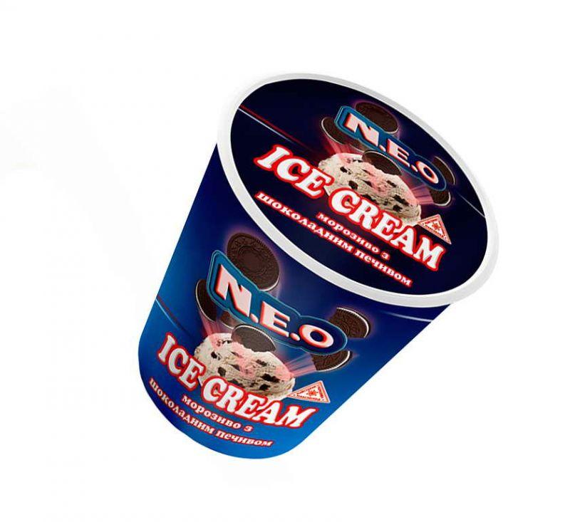 Морозиво з шоколадним печивом 140 г NEO