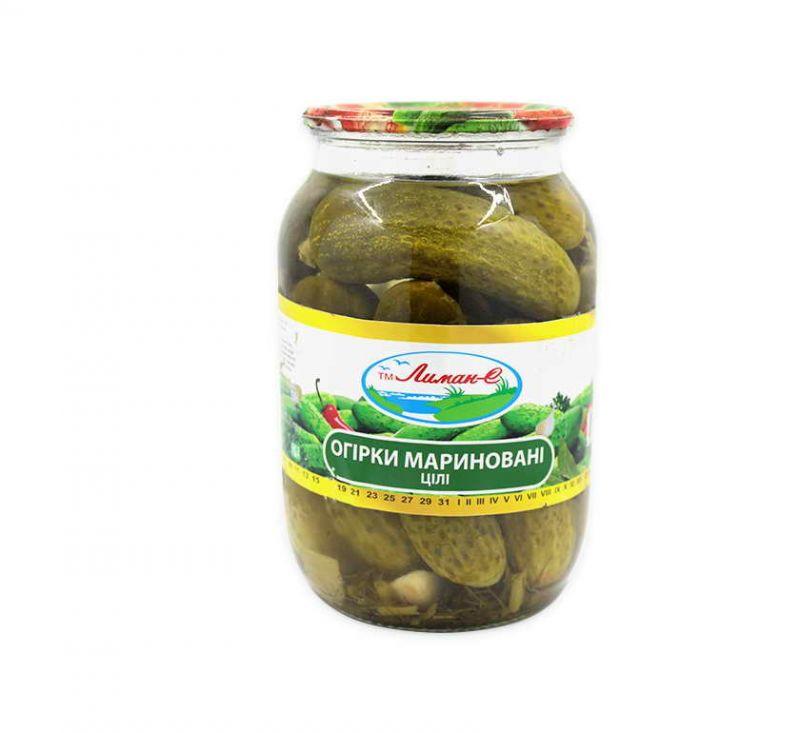 Огірки мариновані 1 л Лиман