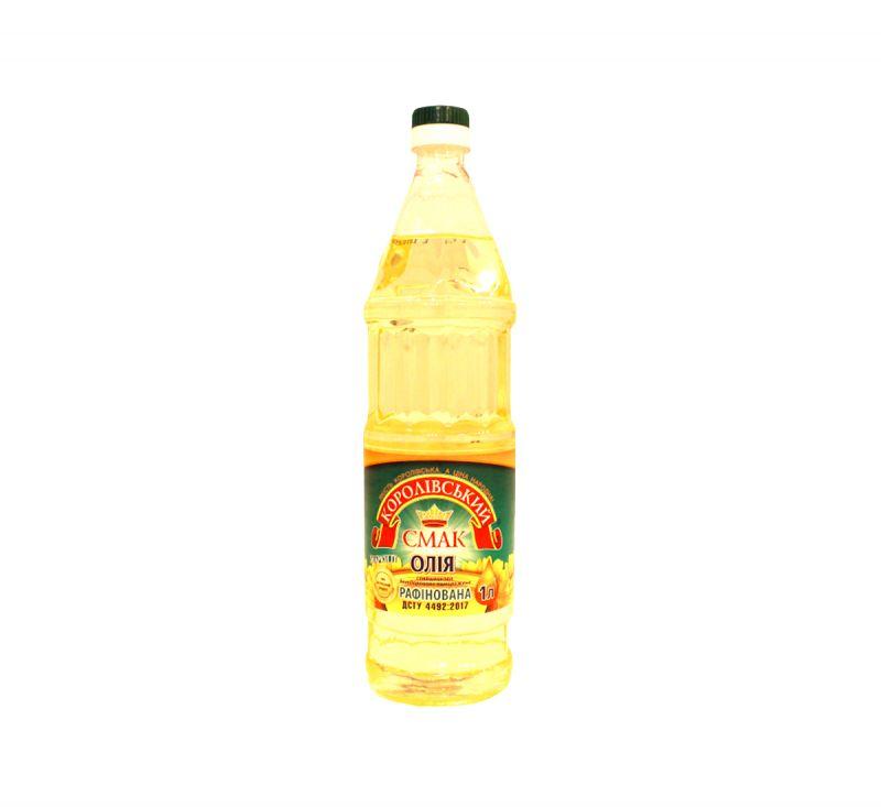 Олія рафінована 1 л Королівський смак
