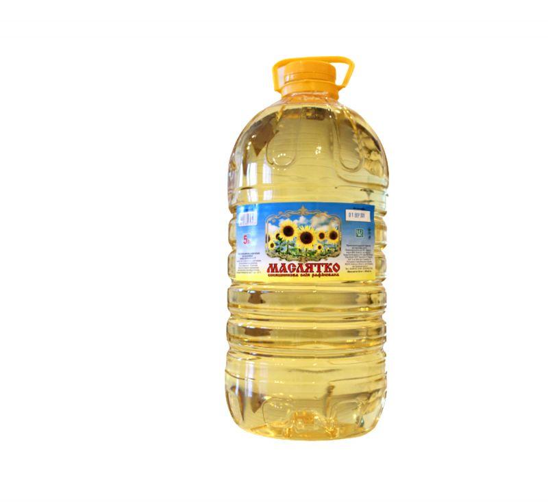 Олія рафінована 5 л Маслятко