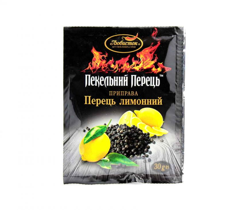 Приправа Лимонний перець пекельний 30 г Любисток