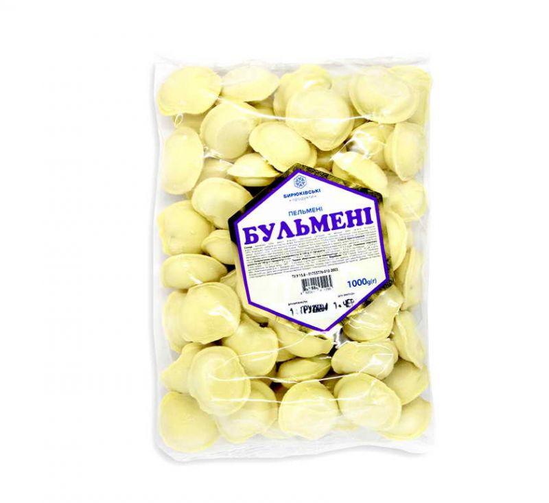 Пельмені Бульмені 1 кг Бирюківські продукти