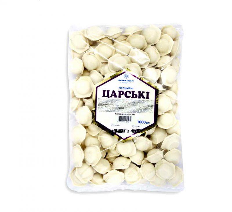 Пельмені Царські 1 кг Бирюківські продукти