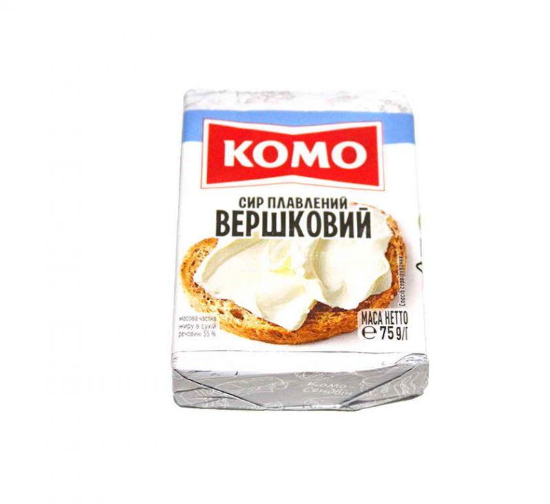 Сир плавлений «Вершковий» 55% 90 г Комо