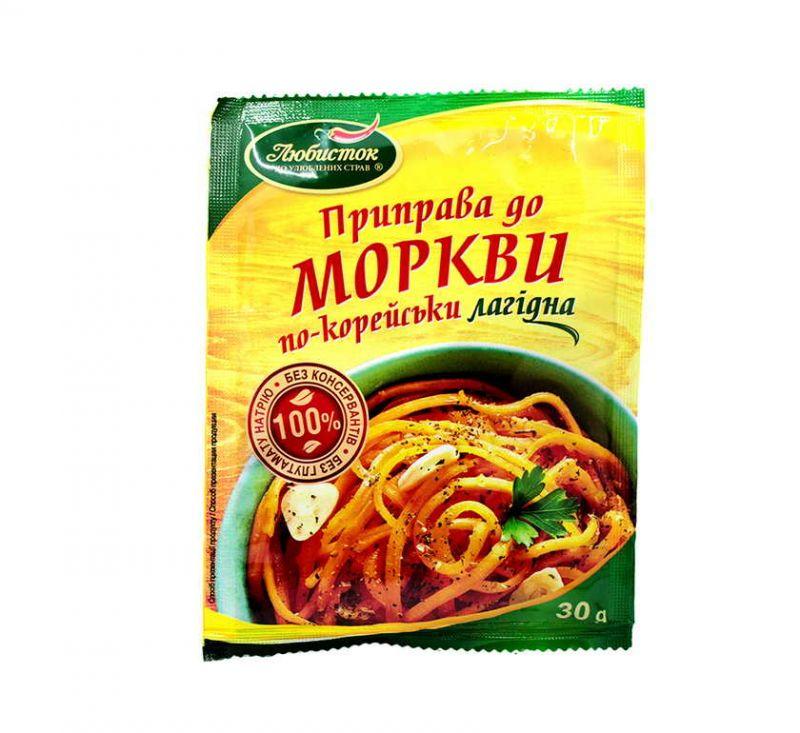 Приправа До моркви по-корейськи 30 г Любисток