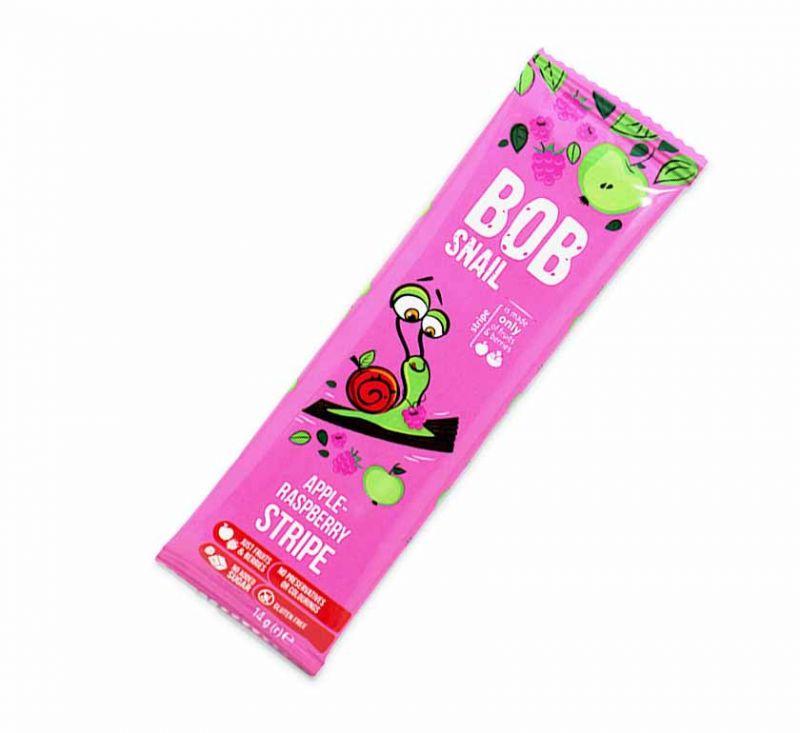Цукерка фруктово-ягідна «Яблучно-малиновий страйп» 14 г Bob Snail