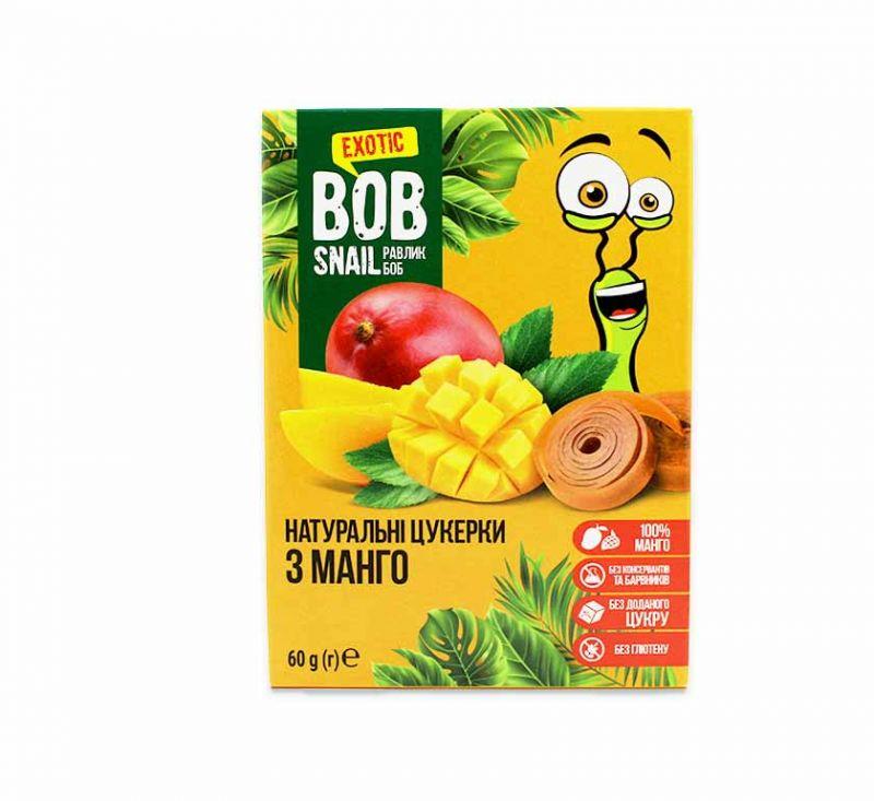 Натуральні фруктові цукерки «Манго» 60 г Bob Snail