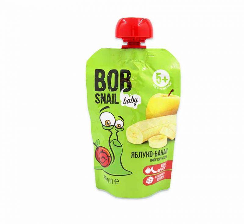 Пюре фруктове «Яблуко-банан» гомогенізоване 90 г Bob Snail