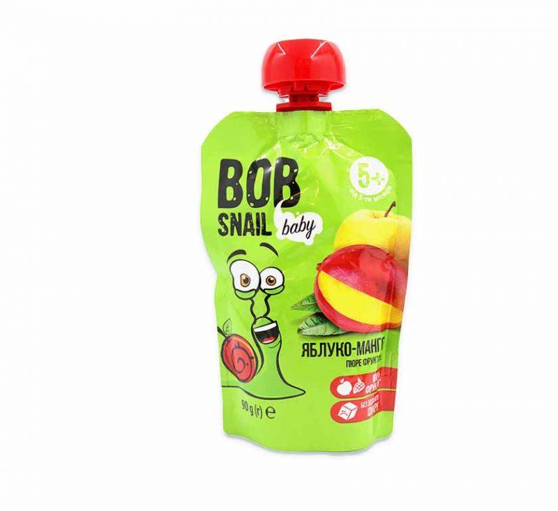Пюре фруктове «Яблуко-манго» гомогенізоване 90 г Bob Snail