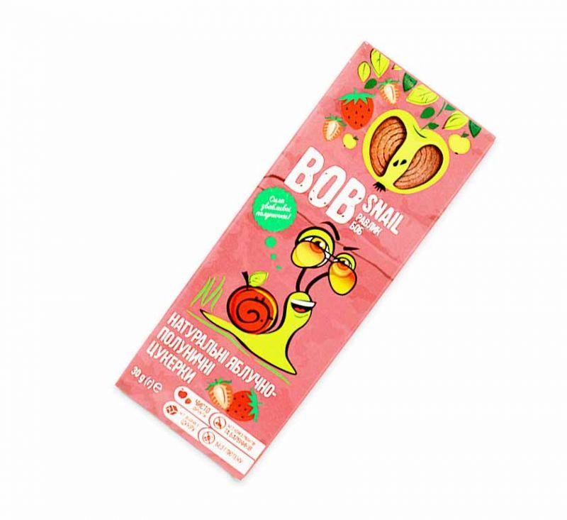 Натуральні фруктові цукерки «Яблуко-полуниця» 30 г Bob Snail