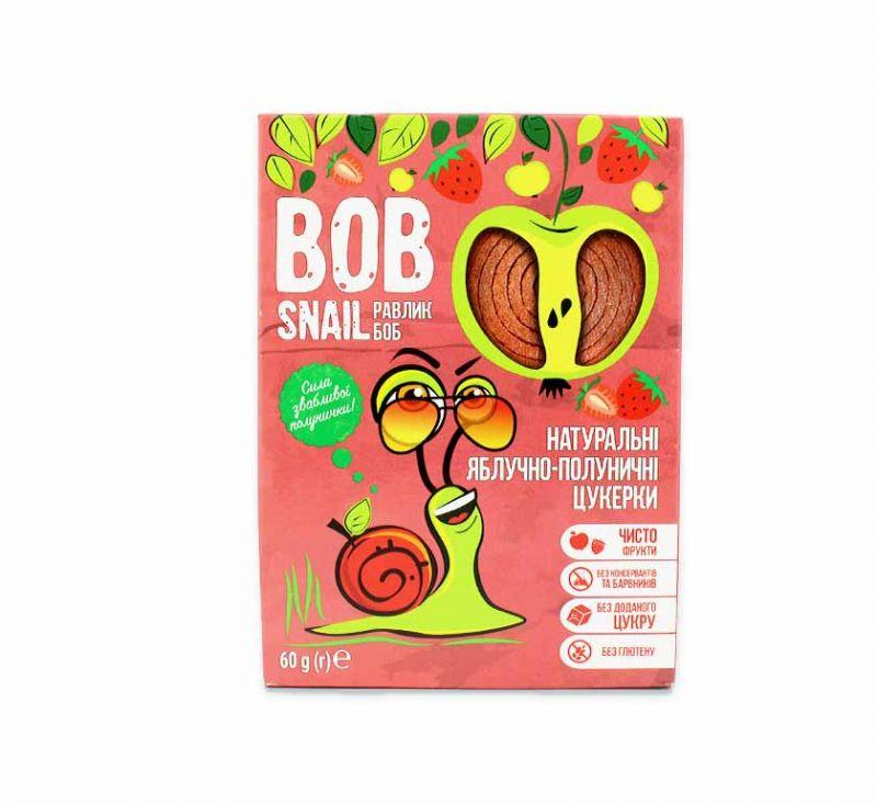 Натуральні фруктові цукерки «Яблуко-полуниця» 60 г Bob Snail